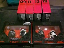 Star Wars Black Series Titanium Helmet Vehicle Lot x6 Black Leader Poe Kylo New