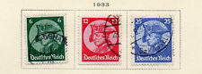 Germany - Full 1933 Frederick the Great set of 3. Scott #398-400. USED