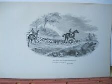 Vintage Print,WITH SILENCE,Noble Science,Fox Hunting,William Blew,1893