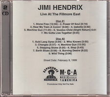 jimi hendrix live at the filmier east 2x cd limited edition