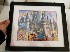 Framed Disney Castle Picture 4 Character Pins Inside