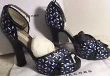 Marc Jacobs platform sandals with ankle strap navy blue women's size 10 B