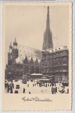 AK Wien I, Stephansplatz, Weihnachts-AK 1940