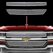 2016 2017 Chevy Silverado 1500 CHROME Grille Overlay Front Grill Covers Inserts