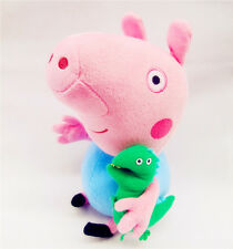 28CM PEPPA PIG ( GEORGE PIG WITH DINOSAUR ) PLUSH KID BABY SOFT TOY STUFFED DOLL