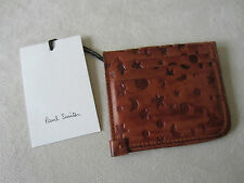 Paul Smith Brown Leather Sun/Moon/Stars CREDIT/BUSINESS CARD WALLET