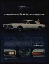 1967 MERCURY COUGAR 289 cubic inch V-8 White Sports Car Unleashed VINTAGE AD
