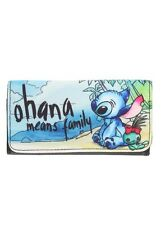 Disney Lilo & Stitch Scrump Beach Ohana Canvas Trifold Flap Wallet New With Tags