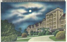 Night Time Scene of Appalachian Hall    Asheville  NC  Unused  Postcard 10174