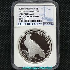 2016 Australia Wedge Tailed Eagle 1oz Silver Proof Coin NGC PF70 Early Releases!
