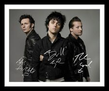 GREEN DAY AUTOGRAPHED SIGNED & FRAMED PP POSTER PHOTO