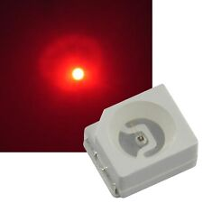 50 rote Smd Leds PLCC-2 3528 von EVERLIGHT / mini Led Smds ROT red LOK Tacho