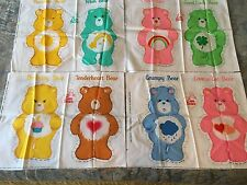 "VTG LOT OF 8 CARE BEARS FABRIC PANELS  CUT & SEW 13"" PILLOWS"