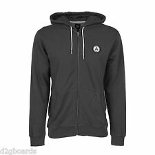 NWT Volcom 2016 Don Pendleton Zip Hoodie Hoody Mens M Medium Men's Black Mx5