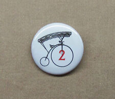 """The Prisoner Number 2 Bicycle Button 1.25"""" Penny Farthing Pinback Badge # Two"""