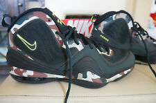 NEW NIKE AIR PENNY V Camo Black Spruce Green Volt 1/2 CENT LIMITED EDITION 13