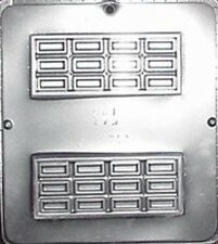 """Candy Bar 5 1/2"""" x 2 1/2"""" x 1/2"""" Chocolate Candy Mold Candy Making  177 NEW"""