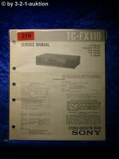 Sony Service Manual TC FX110 Cassette Deck (#0219)