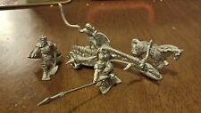 Grenadier Undead Chariot -  OOP - Unpainted - Metal - Missing 1 Horse