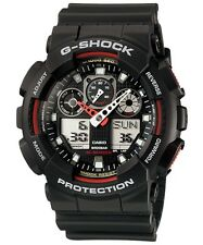Casio GA-100-1A4 G-Shock Velocity Indicator Sports Black Resin Mens Watch GA100