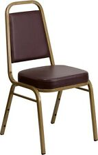 Commercial Quality Stackable Banquet Chairs With Brown Color Vinyl