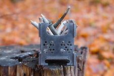 Little Mouse Outdoor Cooking Camping Stainless Steel Folding Wood Pocket Stove