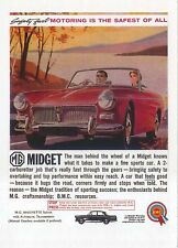 MG Midget circa 1959 MODERN postcard issued by Vintage Ad Gallery