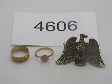 Vintage Jewelry LOT OF 3 Rings GOLD TONE RHINESTONES 4606