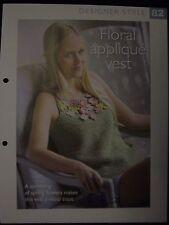Floral Applique Vest Pattern The Art of Crochet Magazine