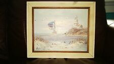 """Vintage Oil on Canvas on Board Seascape Painting 10"""" x 8"""" Signed"""