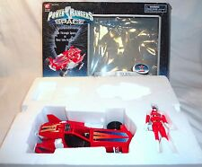Power Rangers In Space Deluxe Red Galactic Rover Set + Box and Ranger Figure