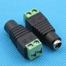 2pcs famale 5.5 x 2.1mm DC Power 12V~36V Jack Adapter Connector Plug for CCTV