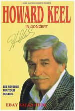 HOWARD KEEL American Actor DALLAS ANNIE GET YOUR GUN HAND SIGNED Colour Playbill