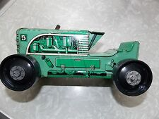 1950s Marx Wind Up Metal Tin Litho Climbing Tractor 5 Sparking Lime Green Toy