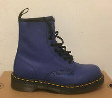 DR. MARTENS 1460  WILD BLUE  SOFTY T  LEATHER  BOOTS SIZE UK 7