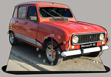 MODEL CARS, RENAULT 4L -01 with Clock