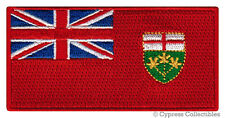 ONTARIO PROVINCE FLAG PATCH CANADA EMBROIDERED IRON-ON Canadian National Emblem