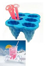 Ice Cream Makers Ice Lolly Maker Silicone Molds Six Stick Blue Ice Pop Molds