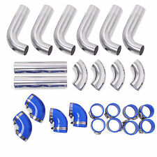 "ALLOY 2.5"" FRONT MOUNT INTERCOOLER HARD PIPES FOR SUBARU IMPREZA LEGACY WRX STI"
