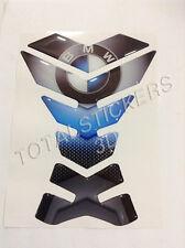 TANK PAD Paraserbatoio adesivo resinato 3D per moto BMW CARBON BLUE DA-005