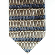 Mens tie Novelty silk Horse-shoe Magnets Brown grey Striped Tobias Barrett LONG
