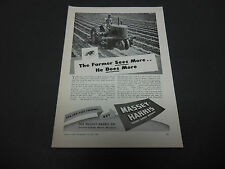 1946 Massey-Harris Tractor Co. Racine WI Print Ad Farm Equipment