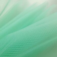 Mint Aqua Pastel Green Fine Tulle fabric 300cm wide - by the M - Bridal Prom net