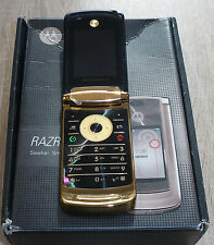 Motorola RAZR2 V8 Black Gold Schwarz Gold Klapphandy Defekt #166#