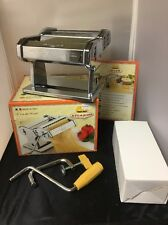 Marcato Atlas 150 Pasta Maker Roller Made Italy Original Box Chrome Color Crank