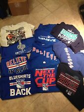 Lot Of 10 NY Rangers Shirts Mens Xl Stanley Cup Playoffs Blueshirts Avery Jersey