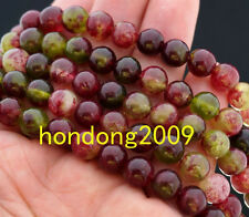 """Natural 8mm Red Multicolor Kunzite Round  Gems Loose Beads 15""""AAA"""