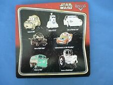 STAR WARS  Disney  Pin SET of 7  CARS  2014   New on Card
