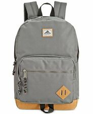 $125 Steve Madden MENS GRAY BROWN BRIEFCASE BACKPACK WORK TRAVEL SCHOOL BAG