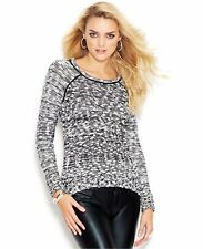 Guess Long-Sleeve Marled-Knit Women's Sweater, Size S